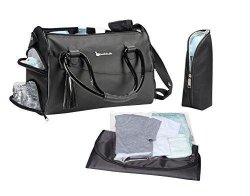 plus d 39 l gance avec le sac langer glossy de badabulle. Black Bedroom Furniture Sets. Home Design Ideas
