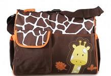 sac a langer girafe marron